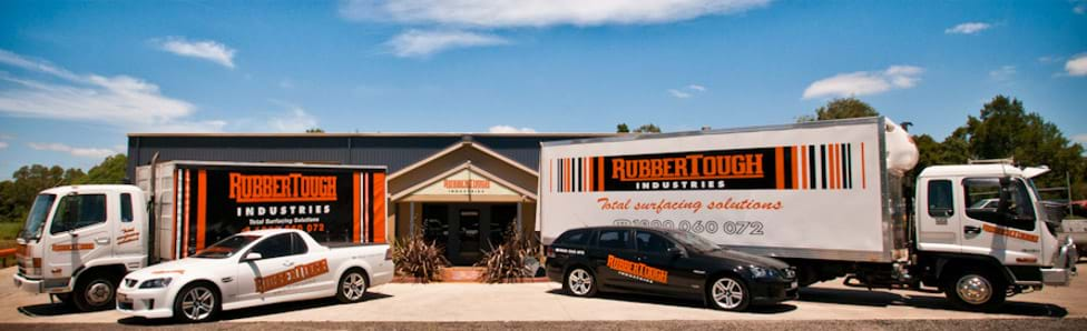 Rubber Victoria | Some of our trucks at Rubbertough Industries