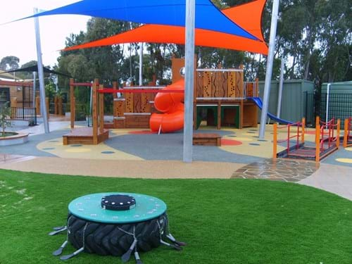 rubber playground surfacing | victoria | rubber| wet pour|