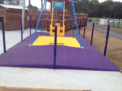 rubber playground surfacing | victoria | rubber| wet pour| golden moth