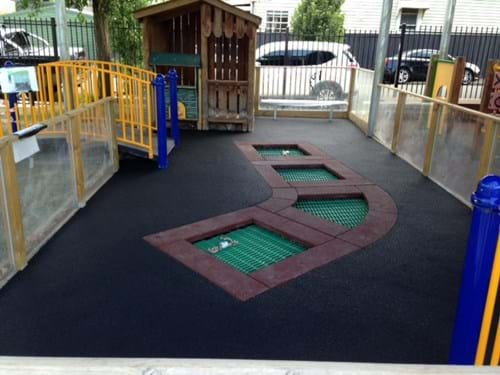 Rubber wet pour| playground surfacing| melbourne